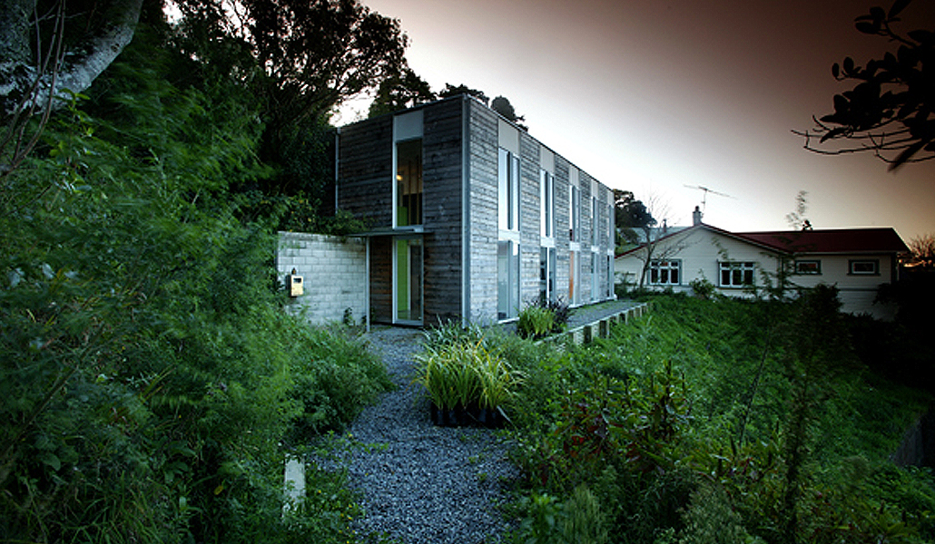 residential architecture national award winning New Zealand architect recycled material timber Brooklyn valley Wellington crafted detailed elegant handsome builder Tim Nees NZIA material budget low cost simple Japanese influenced