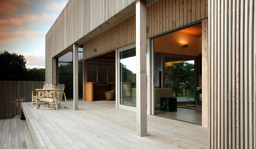 residential architecture national award winning New Zealand architect precast concrete timber Porirua Mana coastal Wellington western coast crafted detailed elegant handsome builder Tim Nees NZIA material sliding screen renovation extension alteration makeover